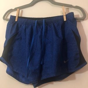 Nike Blue Black Exercise Shorts size small